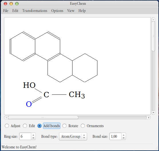 EasyChem Chemical Structures Editor