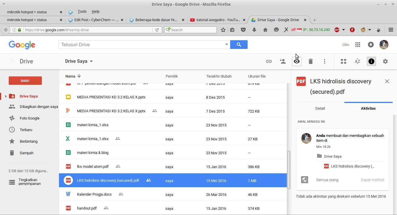 Screenshot-Drive Saya - Google Drive - Mozilla Firefox